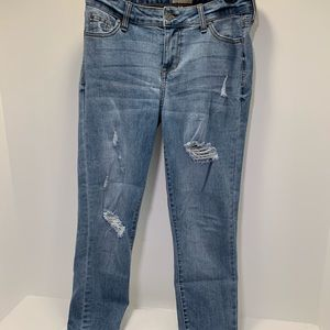 Celebrity pink mid rise skinny jeans size7
